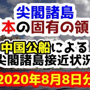 【2日連続侵入】2020年8月8日の中国公船による尖閣諸島接近状況【尖閣諸島は日本固有の領土】