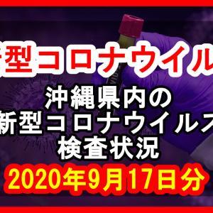 【2020年9月17日分】沖縄県内で実施されている新型コロナウイルスの検査状況について