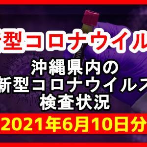 【2021年6月10日分】沖縄県内で実施されている新型コロナウイルスの検査状況について