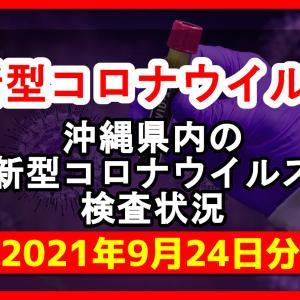 【2021年9月24日分】沖縄県内で実施されている新型コロナウイルスの検査状況について