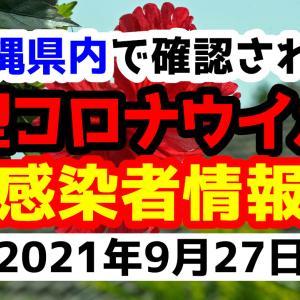【40人感染】2021年9月27日月曜日に発表された沖縄県内で確認された新型コロナウイルス感染者情報一覧