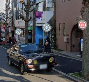 Googleストリートビュー、田園調布駅前にPFジェミニが見られる。福山雅治氏の?