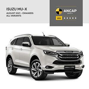 いすゞ、新型「MU-X」が2020年改正ANCAPで、最高評価となる5☆を獲得