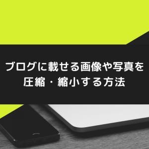 【簡単・無料】ブログに載せる画像や写真を圧縮・縮小する方法