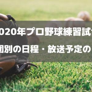 2020年プロ野球練習試合12球団別の日程・放送予定のまとめ
