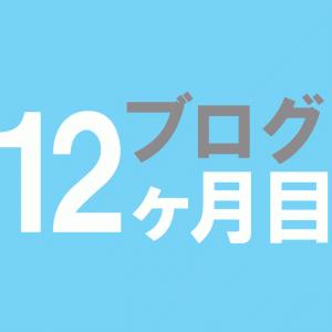雑記ブログ初心者12ヶ月目【中卒40代1周年】