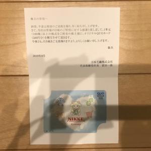 日本毛織(3201)から配当金と株主優待を頂きました。