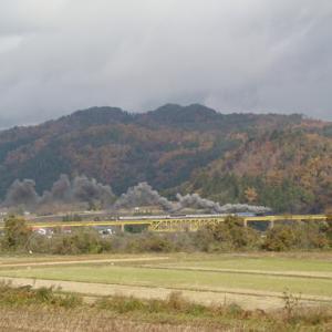 昔のSLの写真(665) 磐越西線 一の戸鉄橋