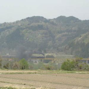 昔のSLの写真(697) 磐越西線一の戸鉄橋