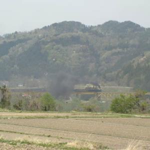 昔のSLの写真(699) 磐越西線 一の戸鉄橋