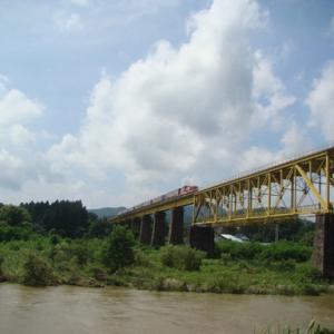 磐越西線 一の戸鉄橋 2020年8月