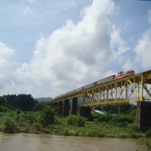 磐越西線 一の戸鉄橋 2020年8月16日