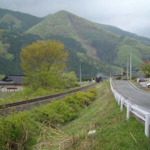 昔のSLの写真(741) 釜石線 洞泉