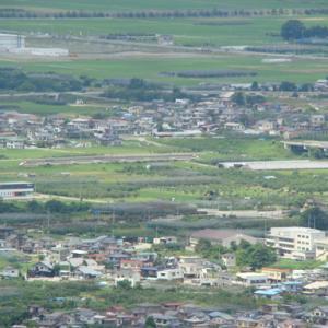 大岡山からの俯瞰 漆山を通過して