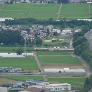 大岡山からの俯瞰 漆山駅交換?