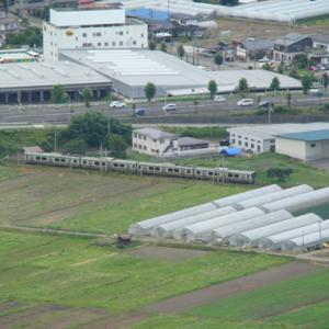 大岡山からの俯瞰 13号線バイパスを潜って