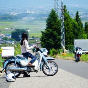 【カブ女子】スーパーカブc125のバイク旅!【走行距離250~300Km】山梨→石川~道の駅風穴の里編~