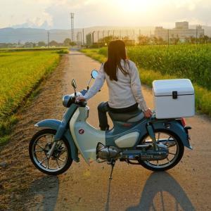 【カブ女子】スーパーカブc125のバイク旅!【走行距離250~300Km】山梨→石川~田んぼ道編~