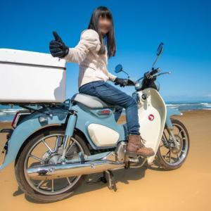 【カブ女子】スーパーカブc125のバイク旅!走行距離300~350Km石川→愛知~千里浜なぎさドライブウェイ~