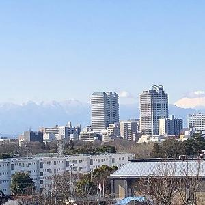 浅間山(府中)から望む富士山と丹沢