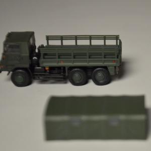 1/144スケール 自衛隊名鑑 第1弾 73式大型トラック編 開封してみました。