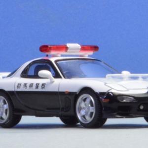 マツダ RX-7パトロールカー 完成後眺めて楽しんでます。 トミカリミテッド ヴィンテージ ネオ