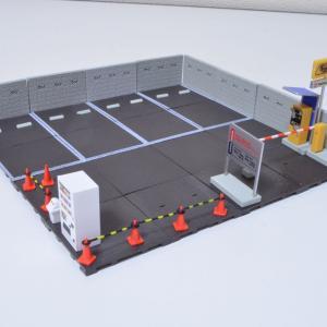 1/64 駐車場コレクション トイズキング製 ガチャポン 小物も並べてました。