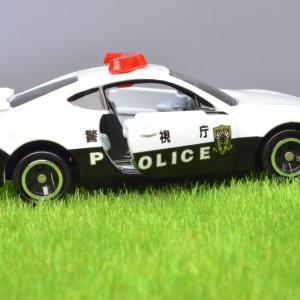 トミカ トヨタ86 パトロールカー ドアも開閉します。