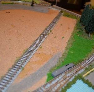 (N)レイアウト製作 新たに駅を設置しました。