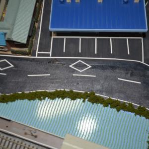 (N)レイアウト製作 横断歩道を作ってみました。