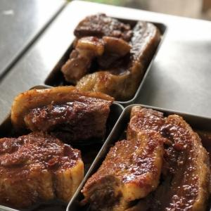 お肉と梅と冷麺と