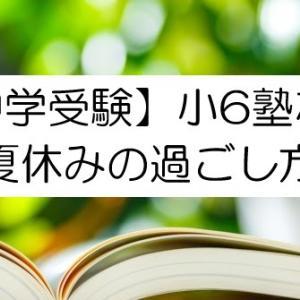 【中学受験】小6塾なしで夏休みの過ごし方