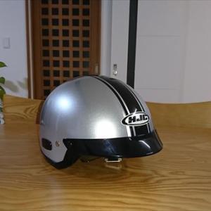 ヘルメットのあご紐をワンタッチクリップに変更