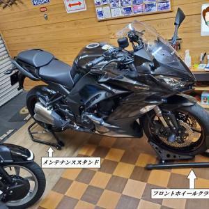 オートバイのチェーンメンテナンス チェンシコ(洗浄と給油)をやりましょう! Ninja1000