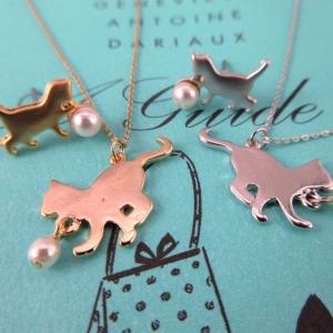 かわいい猫のネックレス 新発売です。