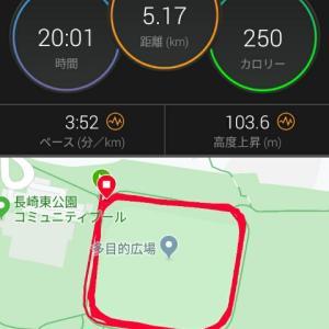 アンダーキロ4で5kmを走りました