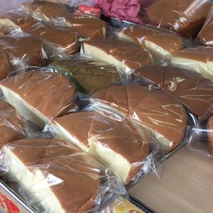 台中向上市場『滋養蛋糕烘焙坊』35年老店のシフォンケーキが半ホールで40元(140円)