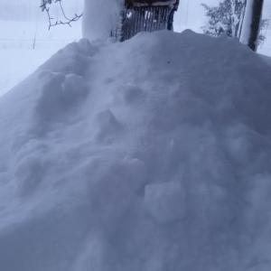 暴風雪 昨日から 今日も続く 60センチ位