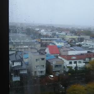 6階の病室の外は雨と風の大荒れみたいだ