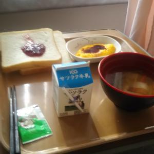 朝飯 初めてのパン スープ 牛乳 ジャム マーガリン