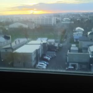 6階病室から見える日の出 朝6時ごろ 毎日見える 晴れなら