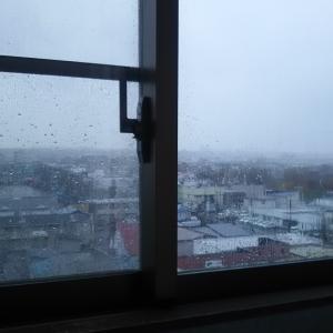 風雨かなり激しい釧路労災 見納めの景色