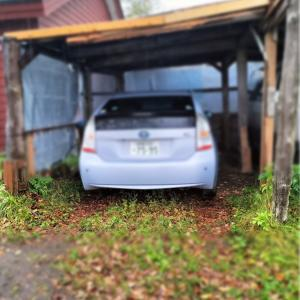 車庫の横柱 腐って危ない久しぶりの大工仕事