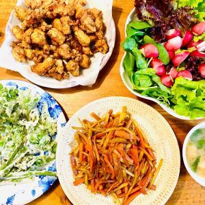 大根ツボミの天ぷら🌈農園🌈収穫夕飯