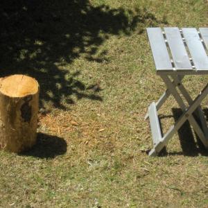 暇なので丸太でロケットストーブを作ってみた