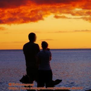 ハワイの夕焼け、どこから見るか。