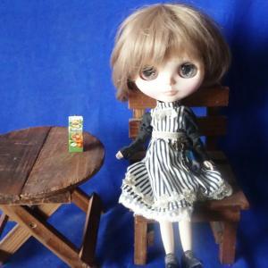 Miniature/ブライスさん、アイスティーを飲む