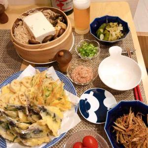 *いわしの天ぷらと蒸し豆腐*