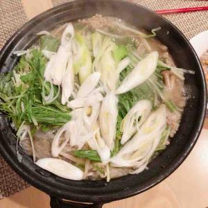 *合い挽きにく団子鍋🥘にシャキシャキ長ネギ!*