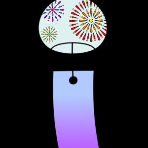 風鈴のフリー素材 夏イラスト